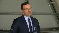 Bundesgesundheitsminister Jens Spahn (CDU) nach der Sitzung des Gesundheitsausschusses am 22.04.20