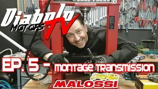 #EP5   Montage transmission Malossi sur Piaggio Zip Sp