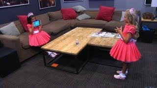 Sophia Grace & Rosie Play the New 'Heads Up!' Kids Deck