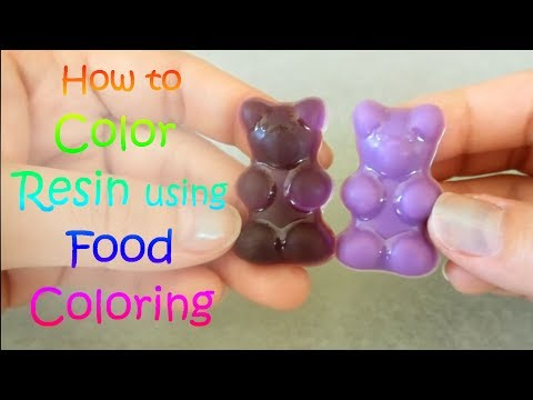 Color Resin Using Food Coloring