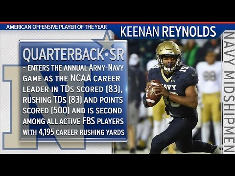 2015 American Offensive Player of the Year - Navy QB Keenan Reynolds
