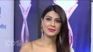 Hot Tv Actress Navel Show In Transparent Saree At ZEE Rishtey Awards 2017