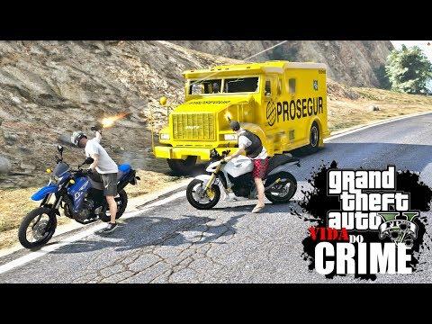 GTA V: VIDA DO CRIME   O ROUBO DO CARRO FORTE, QUASE RODAMOS PRA PM #EP.06