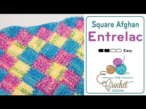 How to Do Tunisian Crochet: Entrelac in a Square Afghan ...