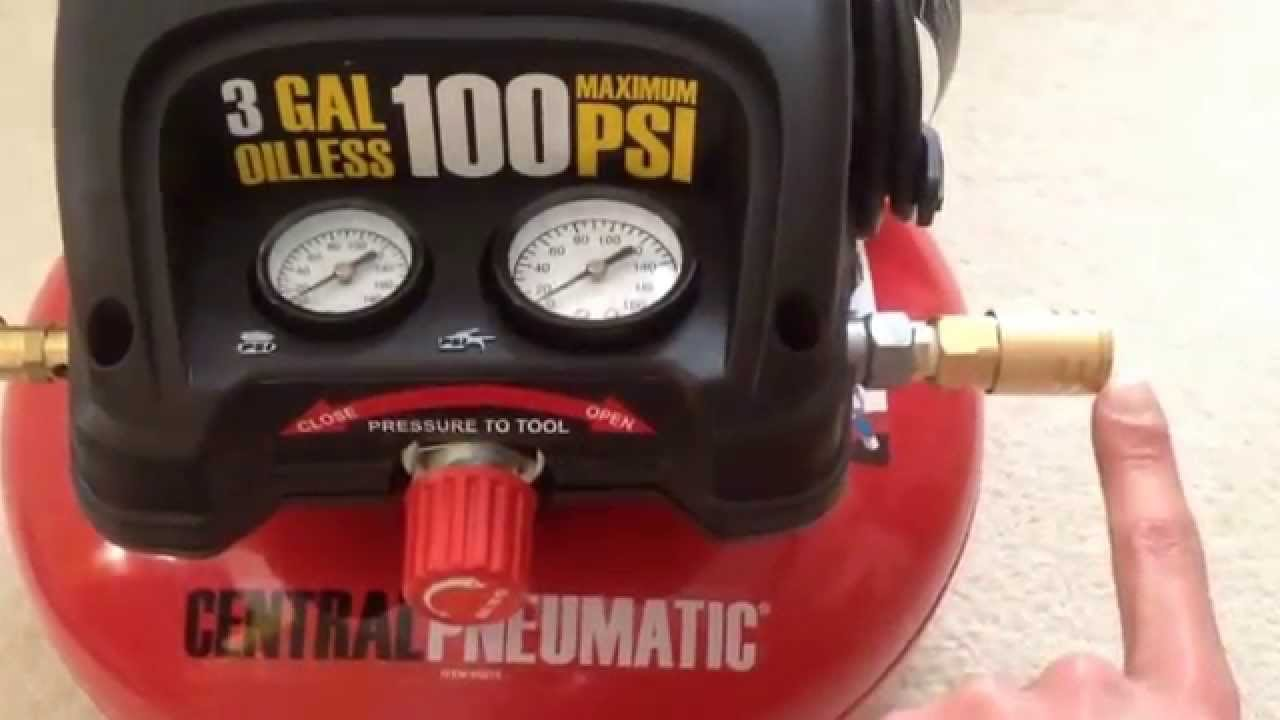 My Review Of The Harbor Freight  Psi Max Pancake Air Compressor Item 95275 You