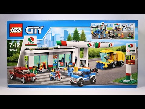 UNBOXING Lego City 60132 Service Station Construction Toy Speed Build