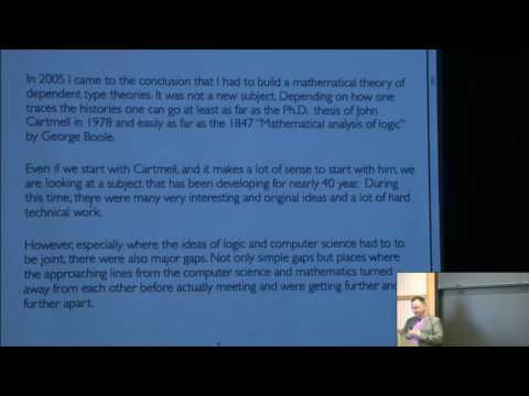 The meta-theory of dependent type theories - Vladimir Voevodsky