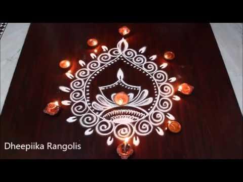 simple and easy deepam muggulu designs for diwali * friday kolam easy rangoli