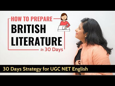 TimeTable  To Study British Literature In Just 30 Days | Boost Your Score Upto 300%