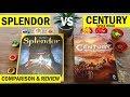 Splendor Vs Century: Spice Road Board Game Comparison & Review