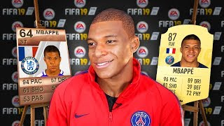 5 FAMOUS Footballers & Their FIFA 19 RATINGS Then and NOW! (Mbappe, Messi, Ronaldo)