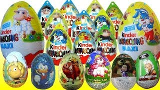 20 Kinder Surprise eggs Limited edition Easter eggs Mickey Mouse Disney Маша и Медведь my video