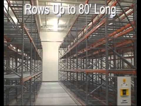 High Density Pallet Racks | Compact Pallet Racks on Tracks | Space SAving Warehouse Storage
