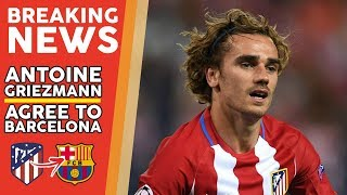 Barcelona 'agree deal in principle' to sign atletico madrid star antoine griezmann as catalan side steal a march on manchester united. the frenchman has long...