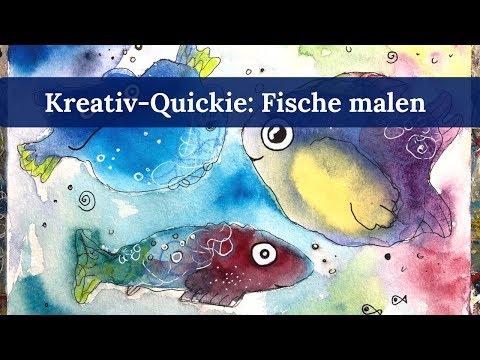 Kreativ-QUICKIE #3: Fische malen mit Clarissa