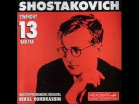 Dmitrij Dmitrievič Šostakovič Symphony n° 13 Babi Yar B Flat Minor - Дмитрий Дмитриевич Шостакович