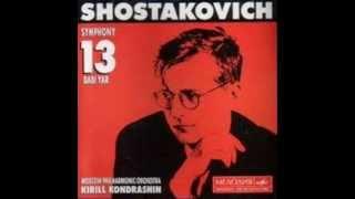 Dmitrij Dmitrievič Šostakovič Symphony N 13 Babi Yar B Flat Minor Дмитрий Дмитриевич Шостакович