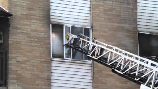 Fire Video with Audio, Philadelphia 4 Alarm Apartment Building, 3-17-15