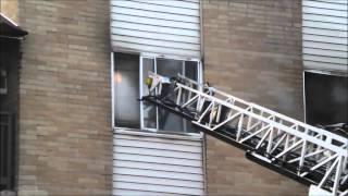 Fire Video with Audio, Philadelphia 4 Alarm Apartment Building, 3-17-15