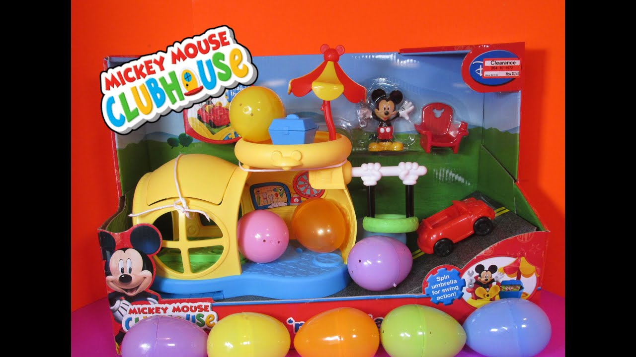 MICKEY MOUSE CLUBHOUSE [Disney Junior] Surprise Eggs with ...