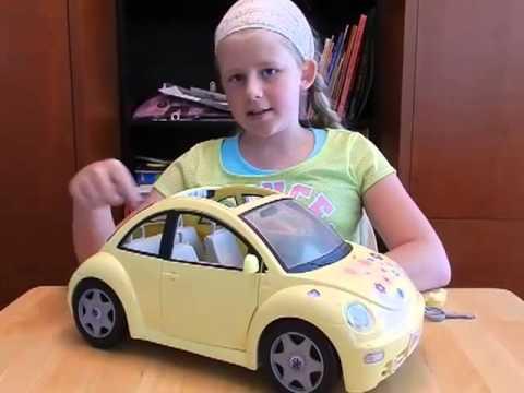Xanthe's Barbie Buggy Car - BARBIE VOLKSWAGEN BEETLE TOY CAR | BARBIE BUG CAR | Barbie Slug Bug ...