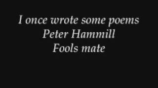 Peter Hammill - I once wrote some poems