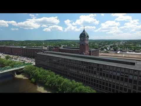 Lawrence Mass / Aerial footage of Mills on the Merrimack River / DJI Phantom 3 / Johnny J