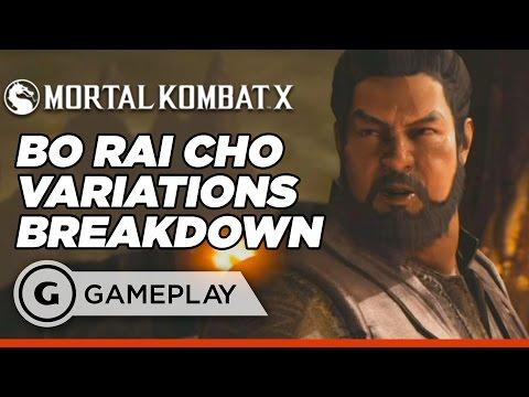 Bo' Rai Cho Official Variation Breakdown - Mortal Kombat X