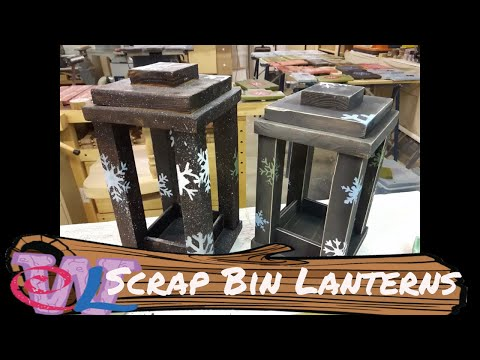 Wooden Lanterns from the Scrap Bin!!