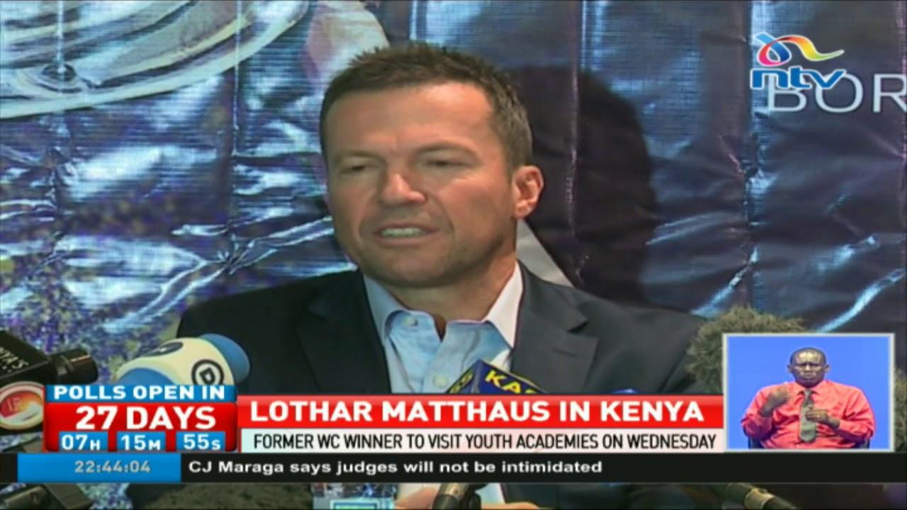 German football legend and World Cup winner Lothar Matthaus in Kenya