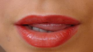Красная помада.Макияж с акцентом на губы