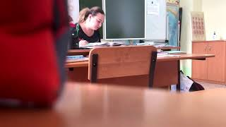 Урок биологии для детей с ОВЗ в школе для глухих города Томска.