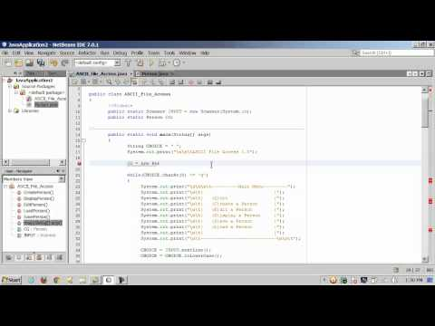 Java Sequential File Access - Part 2 of 2 - Serializing a Class Object