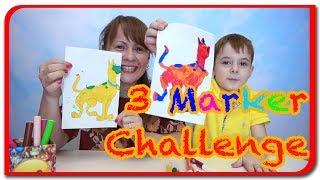 3 MARKER CHALLENGE cu Bogdan`s Show si Mami