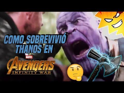 ¿Cómo sobrevivió THANOS al ataque de Thor en INFINITY WAR / #CinexcesoFAQ | @LordMefe