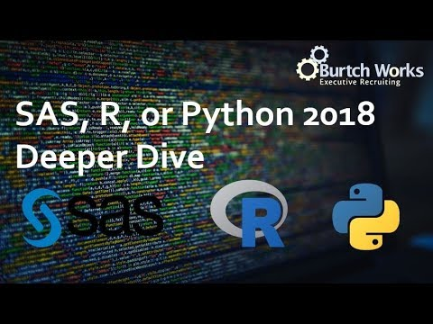 2018 SAS, R, or Python Analysis From an Actual Data Scientist