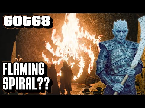 Flaming Spiral Explained   Game of Thrones Season 8   Night King Symbol Episode 1