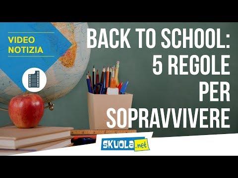 Back to school: 5 regole sopravvivere al rientro  scuola
