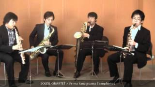 Our Guest Artist #10 Soleil Quartet, the saxophone quartet- at Prima Gakki Showroom Vol.2