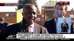 Home Affairs Portfolio Committee addresses media on Lindela escapes