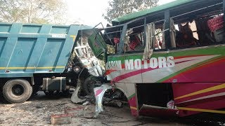 4 Killed 30 Injured in a Bus Truck Accident
