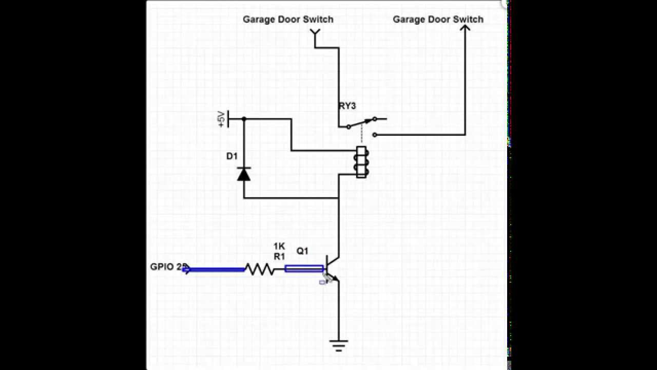 small resolution of raspberry pi relay circuit to control my garage door