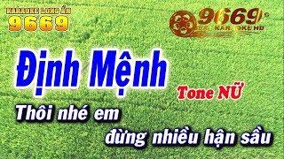 Karaoke Định Mệnh | Tone Nữ beat chuẩn | Nhạc sống LA STUDIO | Karaoke 9669