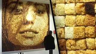 How Insane! This Portrait Is Made Entirely Out of Croutons