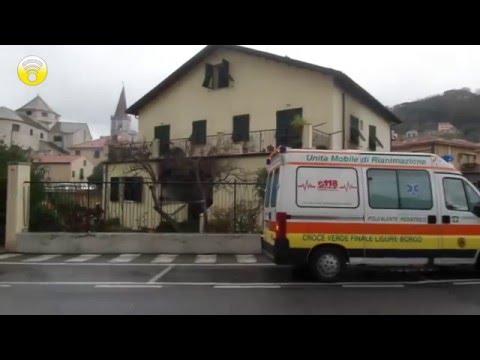 Abitazione in fiamme a Finalborgo: video #1