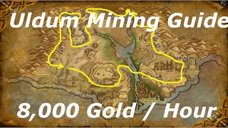 WoW 6.2.2: 6,000-9,000 Gold Per Hour! ( Uldum Mining ) WoD Gold Farming Guides