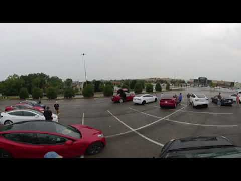 360 of Tesla owners turning out for photo shoot at new service center in Knoxville