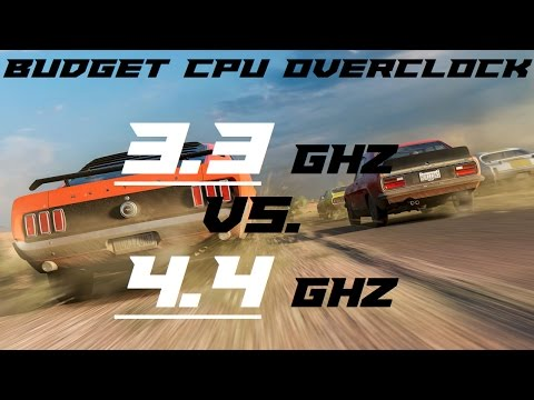 Budget CPU Overclocking - 3.3GHZ to 4.4GHZ Benchmarks!
