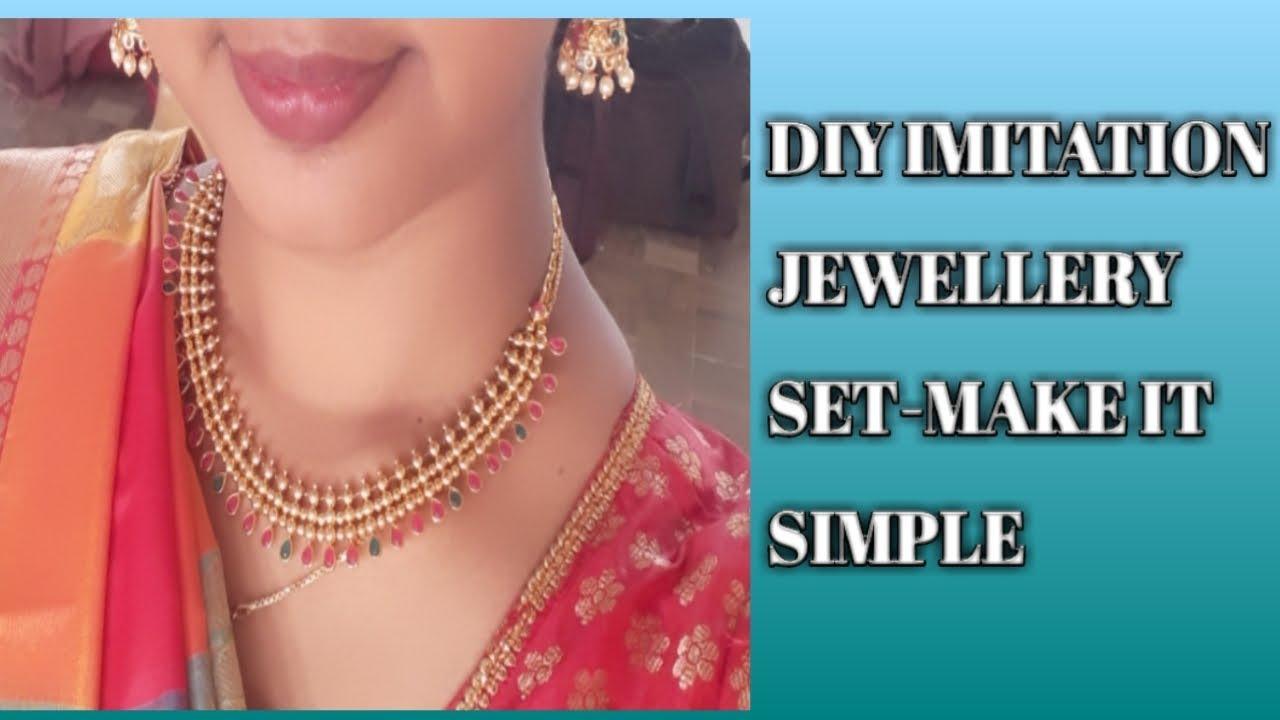 Diy Imitation Jewellery Set Make It Simple Tamil Jewel Making