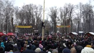 Масленный столб -Масленица 2014 Саранск